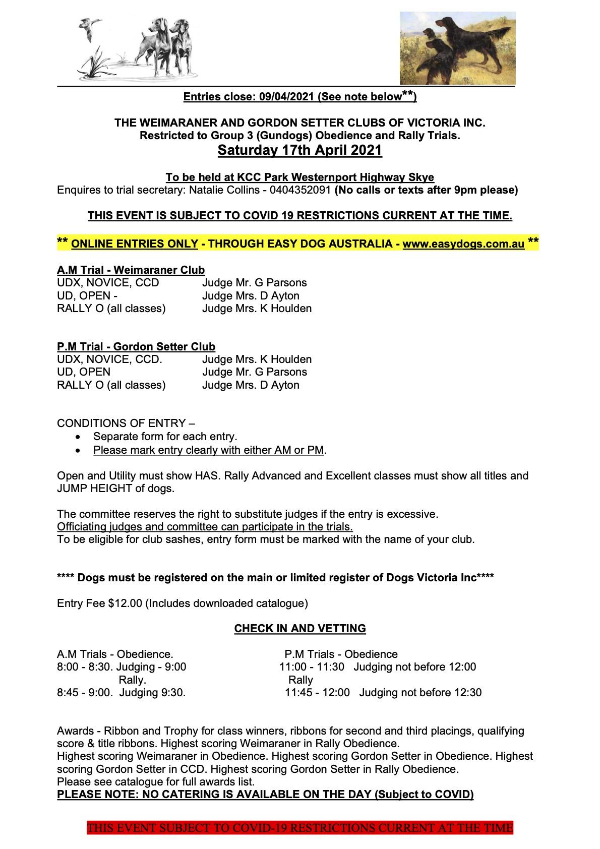 2021 Obedience 29269-SCHEDULE-Weimaraner-Club-of-Victoria-Inc-(AM-Trial)-(VIC)-V1